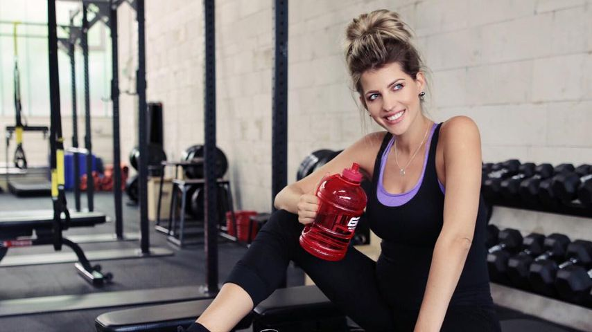 Sarah Nowak im Fitness-Studio