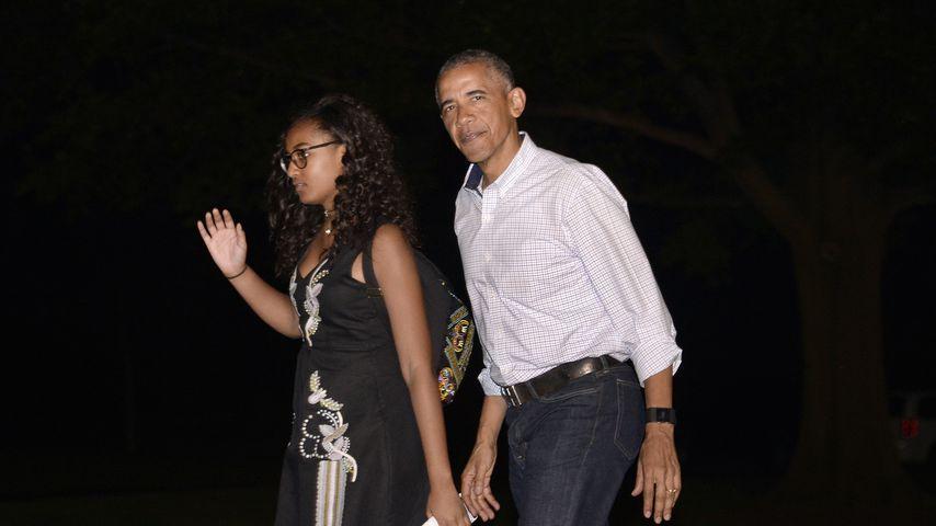 Sasha und Barack Obama im Juni 2016