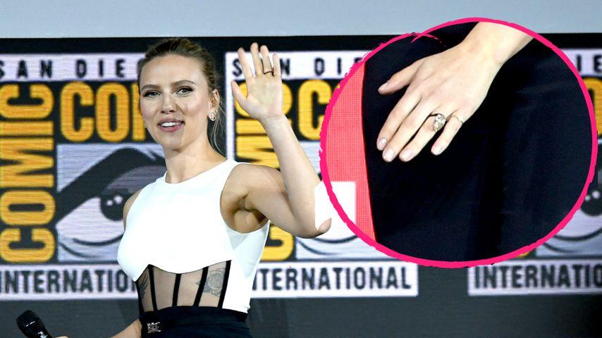 Scarlett Johansson zeigt auf ComicCon ihren Verlobungsring