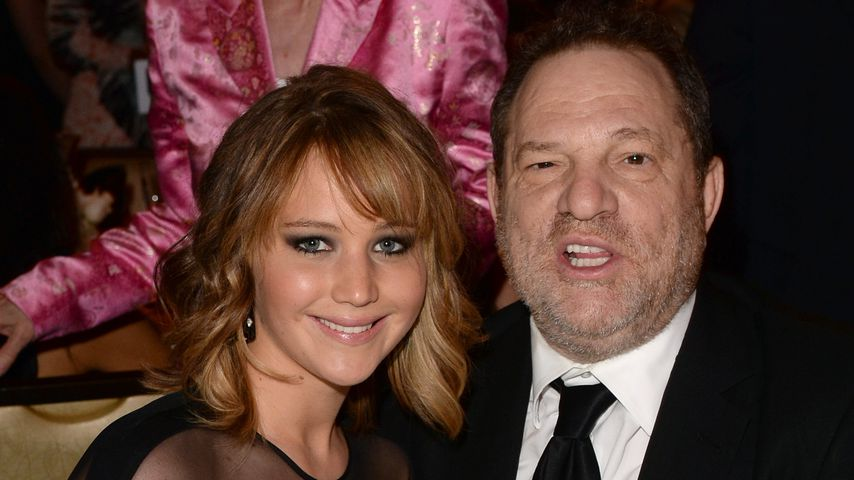 Schauspielerin Jennifer Lawrence und Produzent Harvey Weinstein