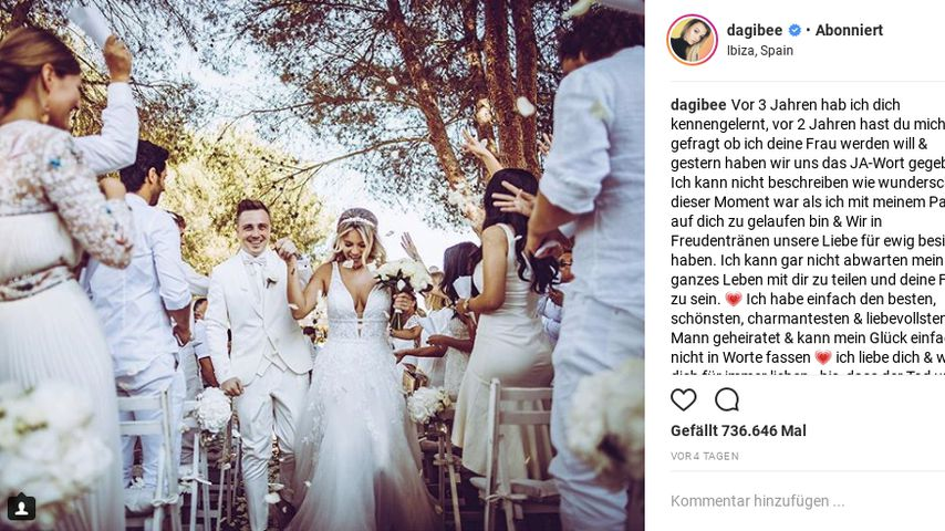 Screenshot von Dagi Bees Hochzeitsfoto
