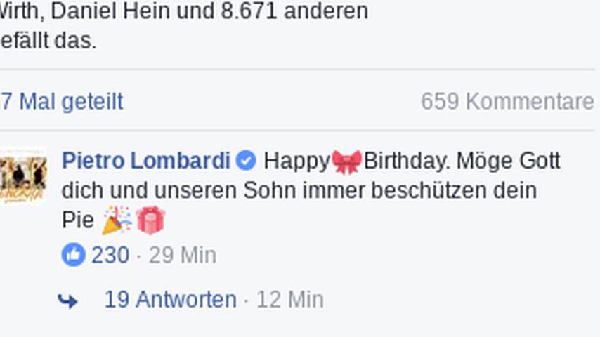 Geburtstagsgratulation von Pietro Lombardi an Sarah Lombardi