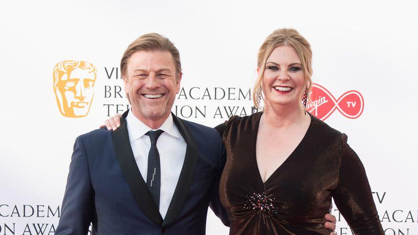 Sean Bean mit seiner Frau Ashley Moore, 2018