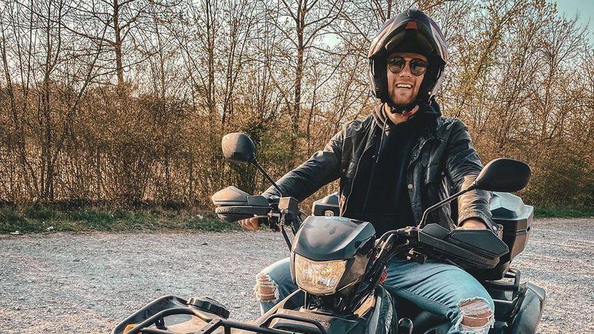 Ex-Bachelor Sebastian Preuss bei einer Quad-Tour