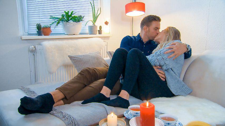 """Sebastian Preuss und Leah während ihres Home-Dates bei """"Der Bachelor"""""""