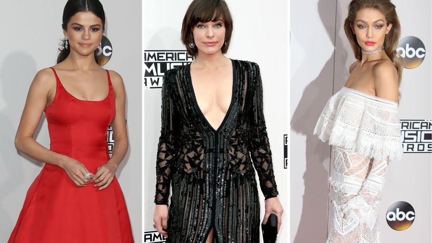 Rot, Schwarz, Glamour: Die schönsten Looks der AMAs 2016