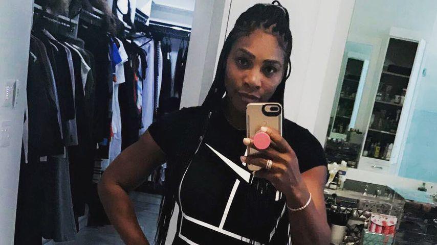 Serena Williams mit Handy