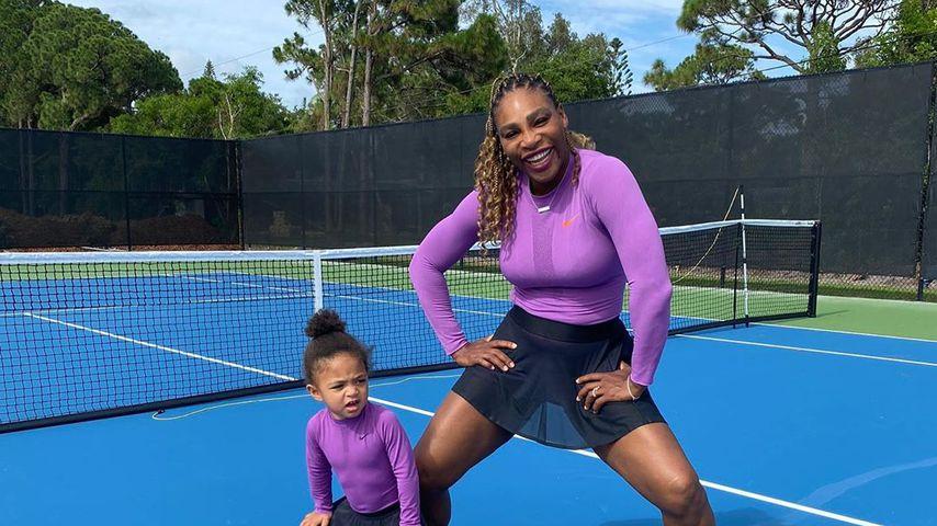 Partnerlook: Hier trainiert Serena Williams mit Tochter (2)