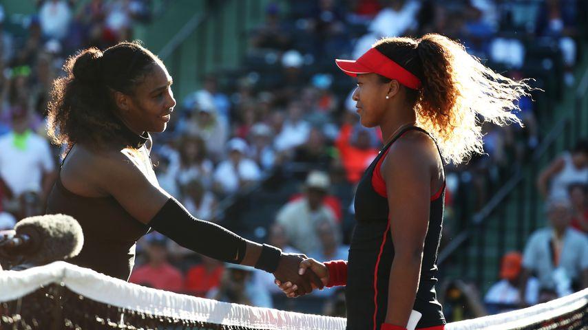 Serena Williams und Naomi Osaka bei den Miami Open 2018