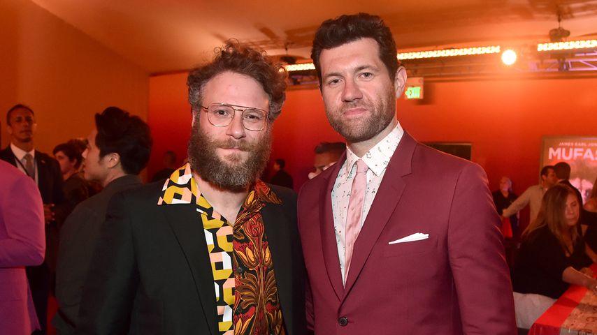 """Seth Rogen und Billy Eichner bei der Weltpremiere von """"König der Löwen"""" in Hollywood"""