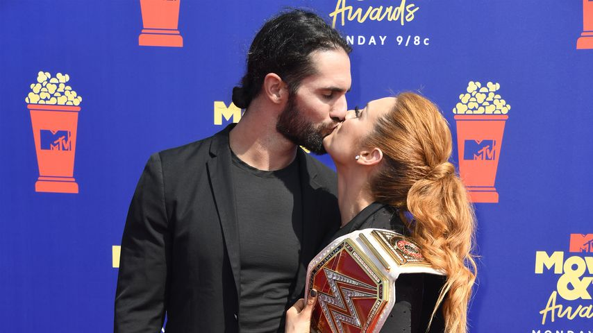 Wrestling-Stars Seth Rollins und Becky Lynch