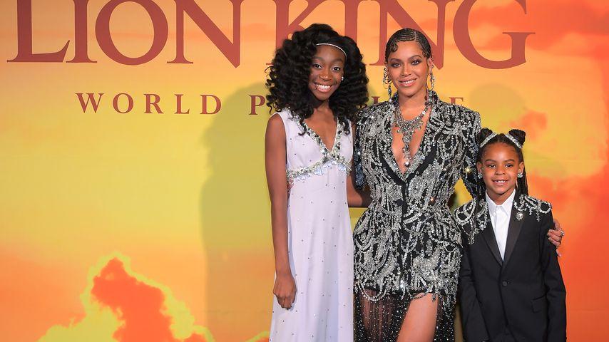 Shahadi Wright Joseph, Beyonce Knowles-Carter und Blue Ivy Carter im Juli 2019 in Hollywood
