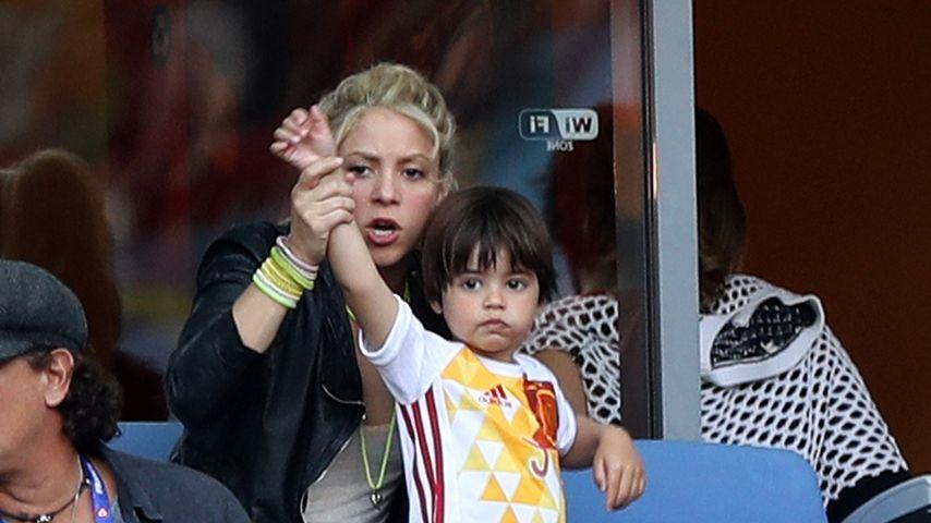 Shakira und Milan beim EM-Spiel Spanien - Italien