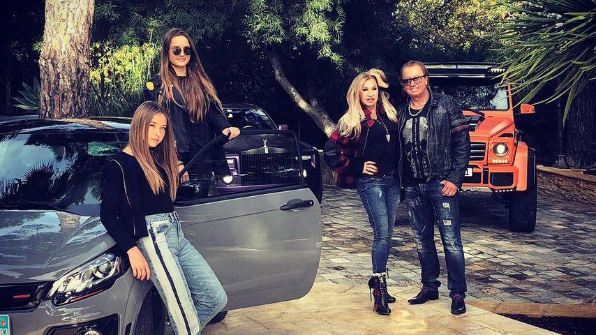 Shania, Davina, Carmen und Robert Geiss