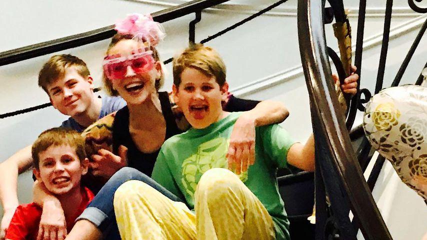 Seltenes Familien-Pic: Sharon Stone zeigt ihre drei Kinder!