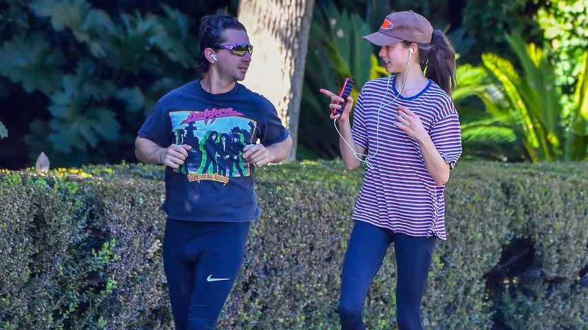 Shia LaBeouf und Margaret Qualley in Pasadena im Dezember 2020