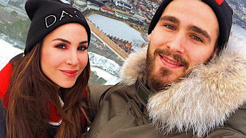 Sila Sahin und Samuel Radlinger am Berg Fløyen in Norwegen
