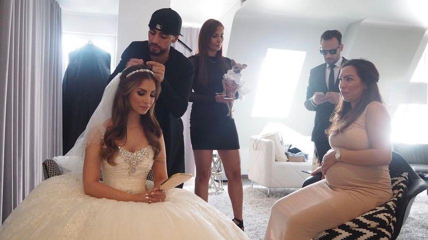 Sila Sahin an ihrem Hochzeitstag