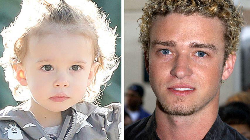 Locken wie Papa! Justin Timberlakes Sohn schon 2 Jahre alt