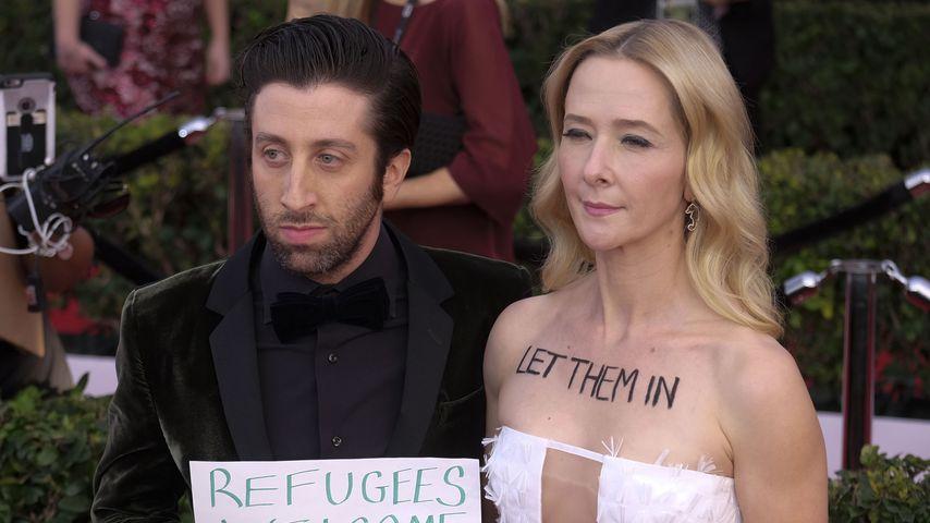 Simon Helberg und Jocelyn Town bei den Screen Actors Guild Awards in Los Angeles