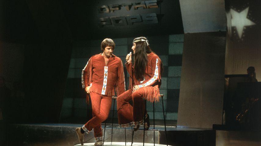 Sonny und Cher bei einem Auftritt im September 1966