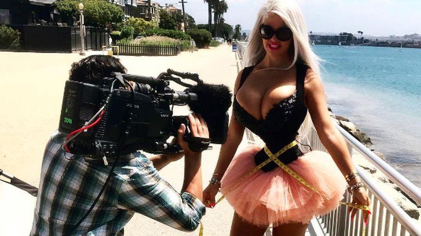 Sophia Wollersheim bei Dreharbeiten in Beverly Hills