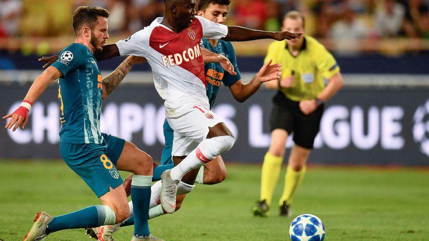 Spielsituation im zwischen dem AS Monaco und Atletico Madrid, September 2018