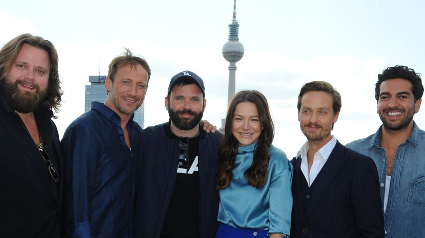 Wotan Wilke Möhring, Elyas M'Barek, Tom Schilling und Hannah Herzsprung