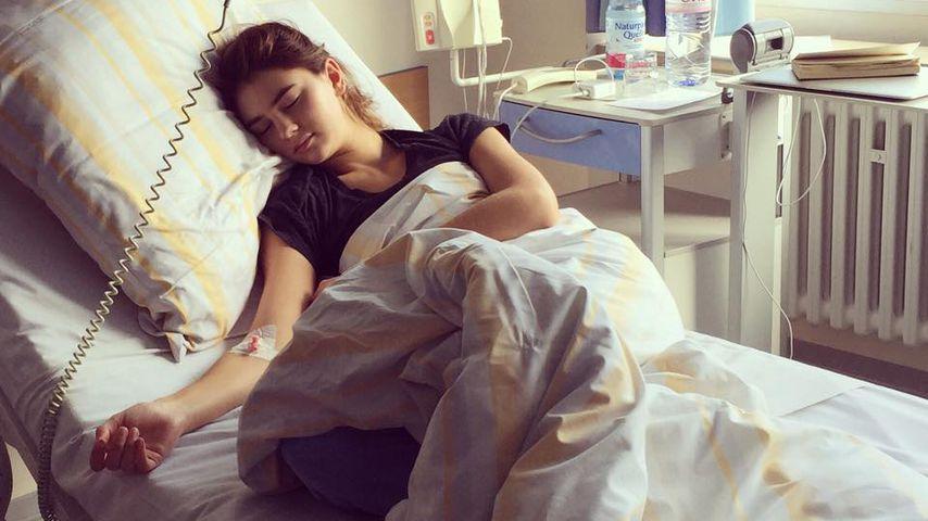 Stefanie Giesinger im Krankenhaus, 2015