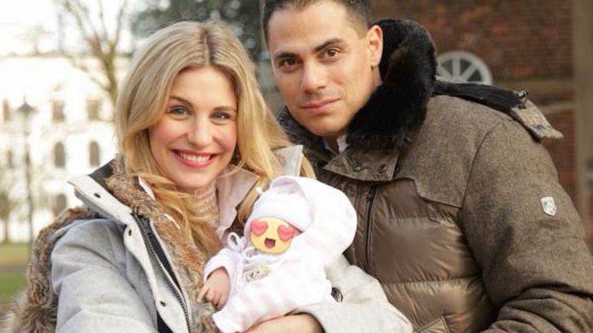 Stefanie Schanzleh und Silva Gonzalez mit Töchterchen Ella Marianna