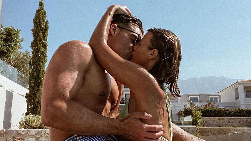 Stefano Zarrela mit Freundin Romina