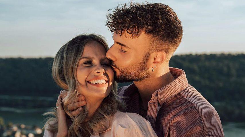 Stephanie Schmitz mit ihrem Verlobten Julian Evangelos