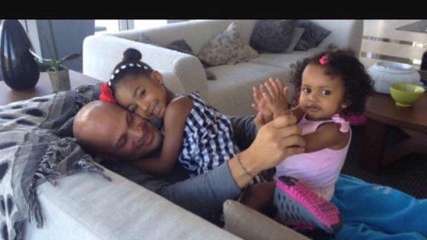 Stephen Belafonte mit Stieftochter Angel und Tochter Madison