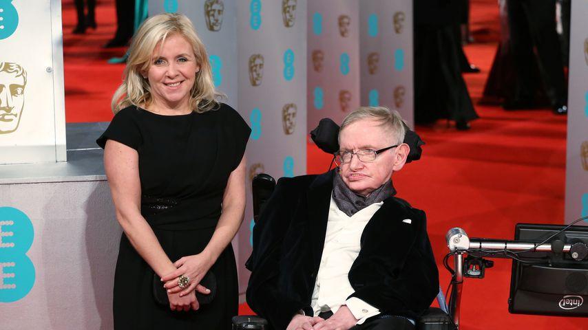 Stephen Hawking (r.) und seine Tochter Lucy