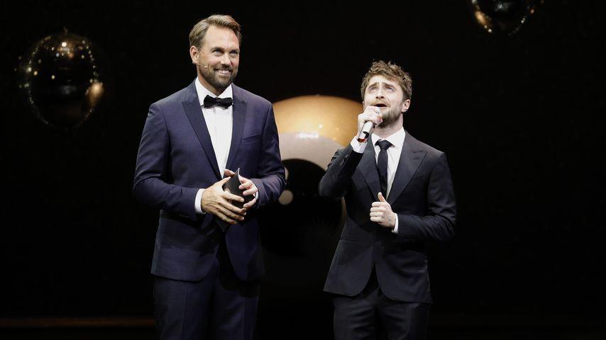 Steven Gätjen und Daniel Radcliff beim 12. Züricher Filmfestival 2016