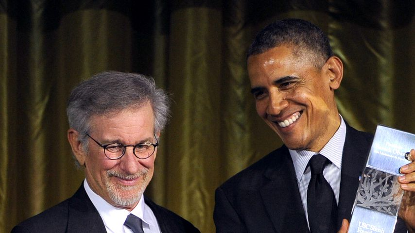 Steven Spielberg und Barack Obama