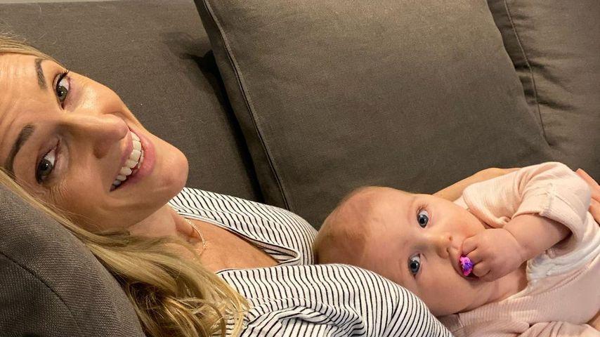 Storm Keating mit ihrer Tochter Coco