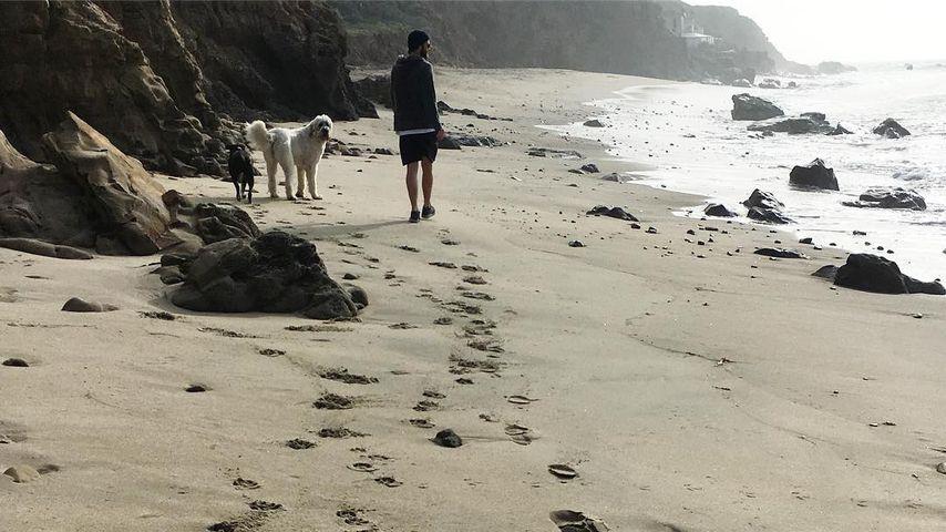 Liam Hemsworth am Strand