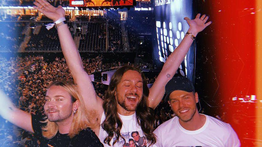 Strify, Riccardo Simonetti und Florian Ferino beim Konzert der Backstreet Boys in Berlin, 2019