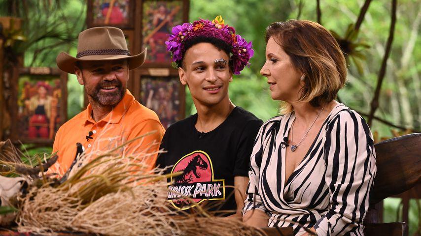 Sven Ottke, Prince Damien und Daniela Büchner beim Dschungel-Wiedersehen
