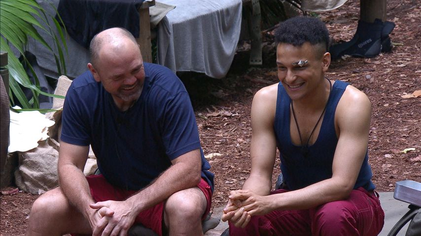 Sven Ottke und Prince Damien an Tag 5 im Dschungelcamp, 2020