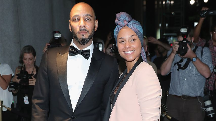 Swizz Beatz und Alicia Keys während der New York Fashion Week