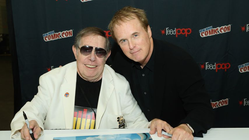 Syd Mead und Brad Bird im Oktober 2014