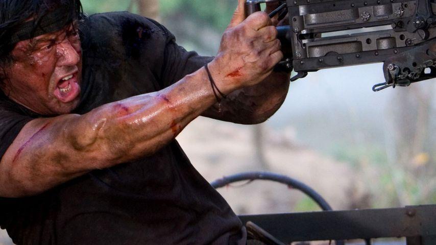 Sylvester Stallone bald auch als Rambo im TV