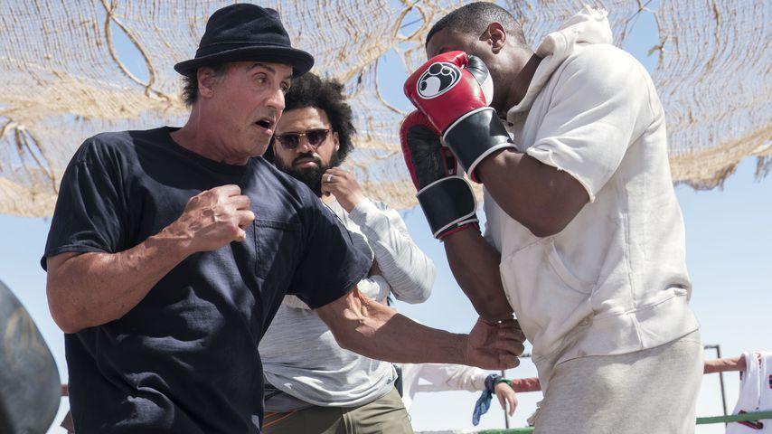 "Sylvester Stallone und Michael B. Jordan am Set von ""Creed II"""