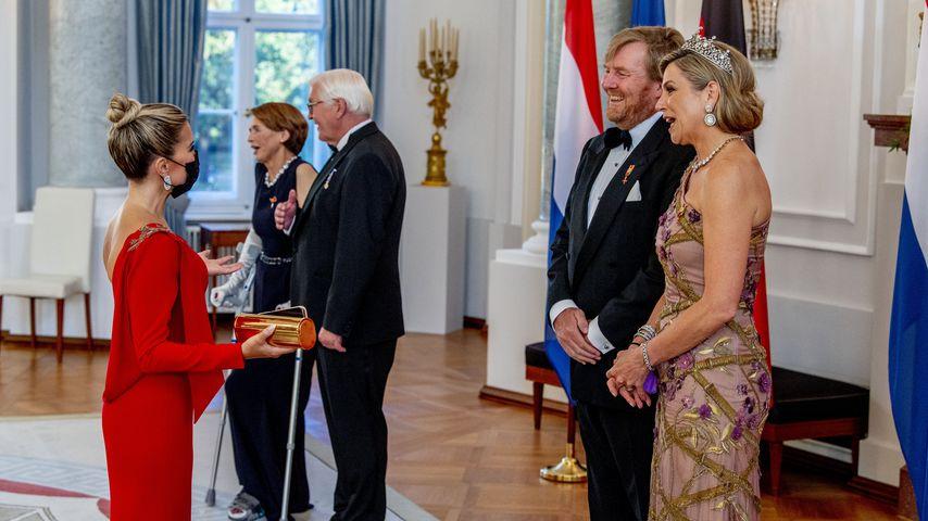 Sylvie Meis mit den niederländischen Royals Máxima und Willem-Alexander in Berlin