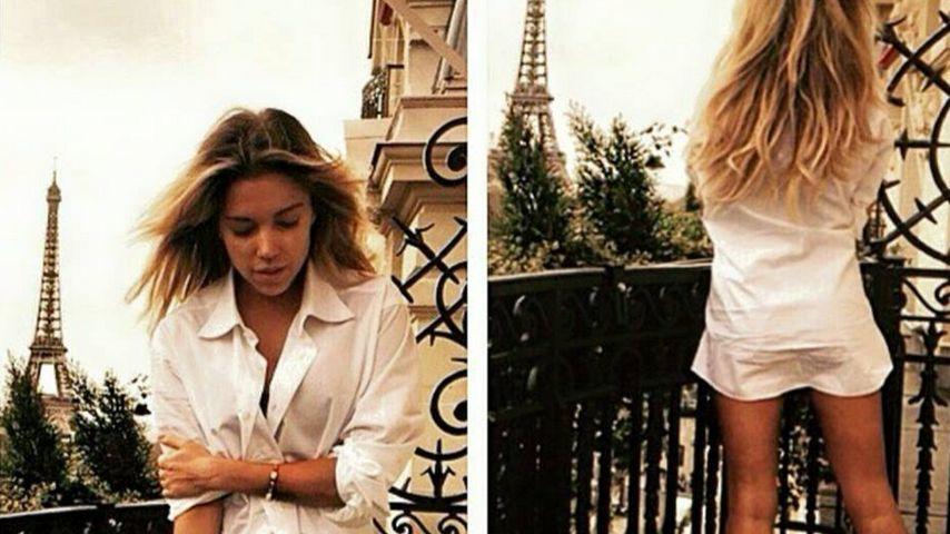 Privater Moment: Sylvie Meis halbnackt im XL-Männerhemd