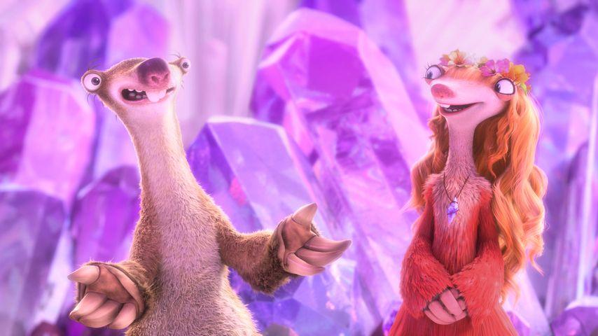 """Szene aus """"Ice Age - Kollision Voraus"""" mit Sid und Francine"""