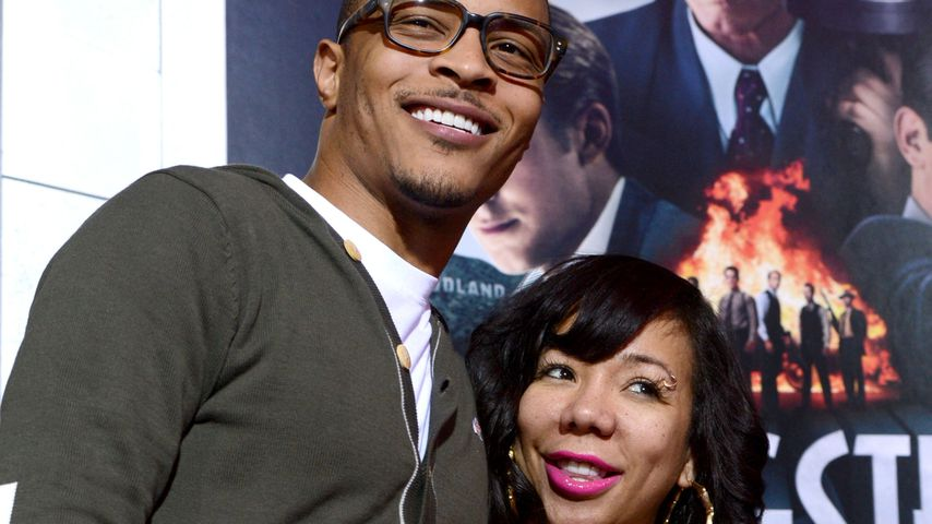 "T.I. und Tameka ""Tiny"" Harris bei der ""Gangster Squad""-Premiere in Hollywood 2013"