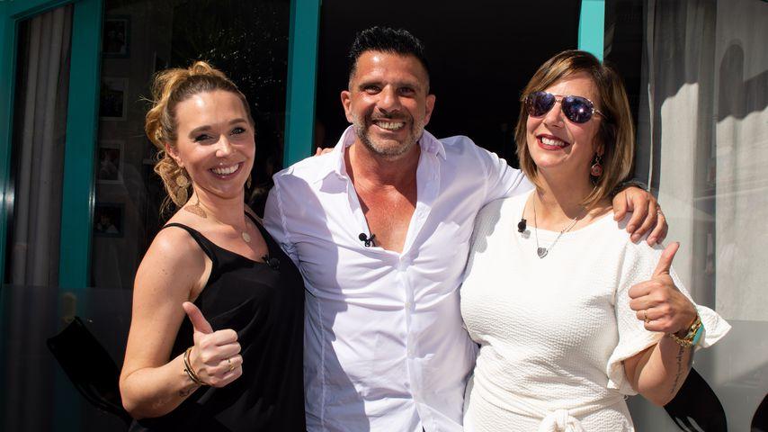 Tamara und Marco Gülpen mit Daniela Büchner im Mai 2019